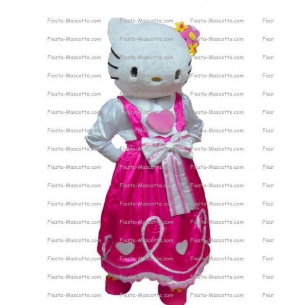 Achat mascotte Hello Kitty pas chère. Déguisement mascotte Hello Kitty.