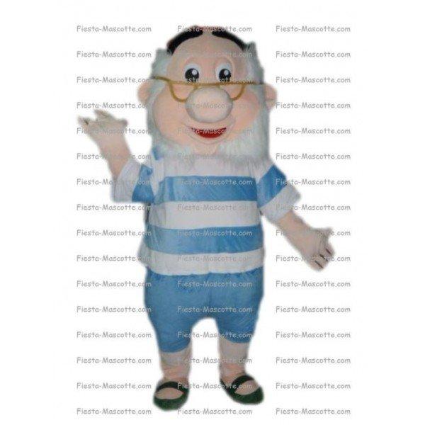 Achat mascotte Nain professeur pas chère. Déguisement mascotte Nain professeur.