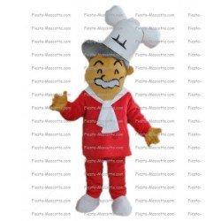 Achat mascotte Chef cuisinier pas chère. Déguisement mascotte Chef cuisinier.