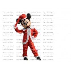 Achat mascotte Mickey noël pas chère. Déguisement mascotte Mickey noël.