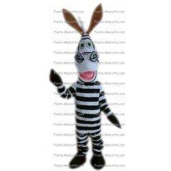Buy cheap Zebra Madagascar mascot costume.