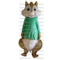 Achat mascotte Alvin chipmunks écureuil pas chère. Déguisement mascotte Alvin chipmunks écureuil.