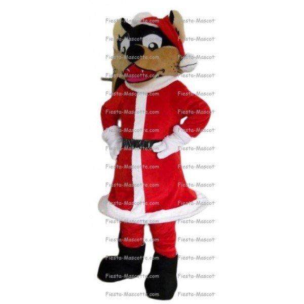 Achat mascotte Loup noël pas chère. Déguisement mascotte Loup noël.