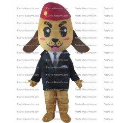 Achat mascotte Chien militaire pas chère. Déguisement mascotte Chien militaire.
