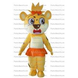 Achat mascotte Tigre fille pas chère. Déguisement mascotte Tigre fille.