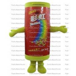 Achat mascotte Skittles pas chère. Déguisement mascotte Skittles.