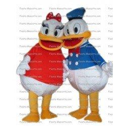 Achat mascotte Donald Daisy canard pas chère. Déguisement mascotte Donald Daisy canard.
