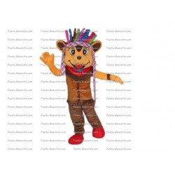 Achat mascotte Ours apache pas chère. Déguisement mascotte Ours apache.