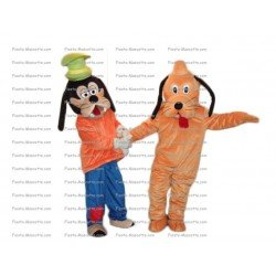 Buy cheap Rather and goofy mascot costume.