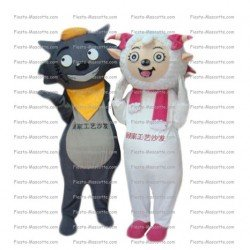 Achat mascotte Mouton chat pas chère. Déguisement mascotte Mouton chat.