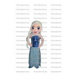 Achat mascotte Elsa la reine des neiges pas chère. Déguisement mascotte Elsa la reine des neiges.