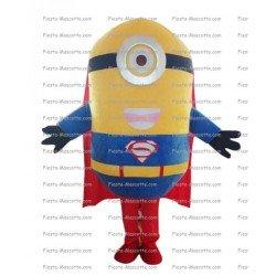 Achat mascotte Minion superman pas chère. Déguisement mascotte Minion superman.
