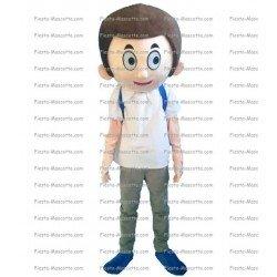 Achat mascotte Minion captain america pas chère. Déguisement mascotte Minion captain america.