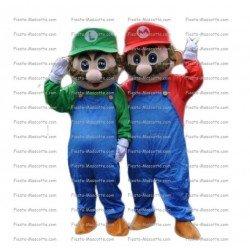 Achat mascotte Mario et Luigi pas chère. Déguisement mascotte Mario et Luigi.