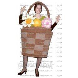Achat mascotte Panier de fleurs pas chère. Déguisement mascotte Panier de fleurs.