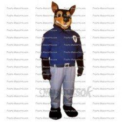 Achat mascotte Chien police pas chère. Déguisement mascotte Chien police.