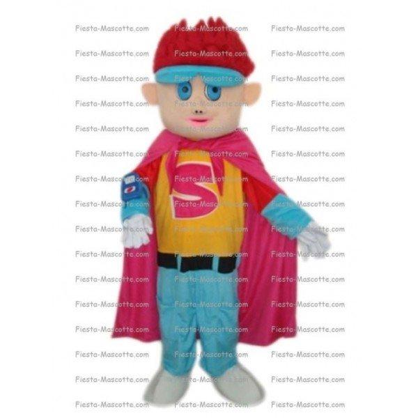 Achat mascotte Super hero pas chère. Déguisement mascotte Super hero.