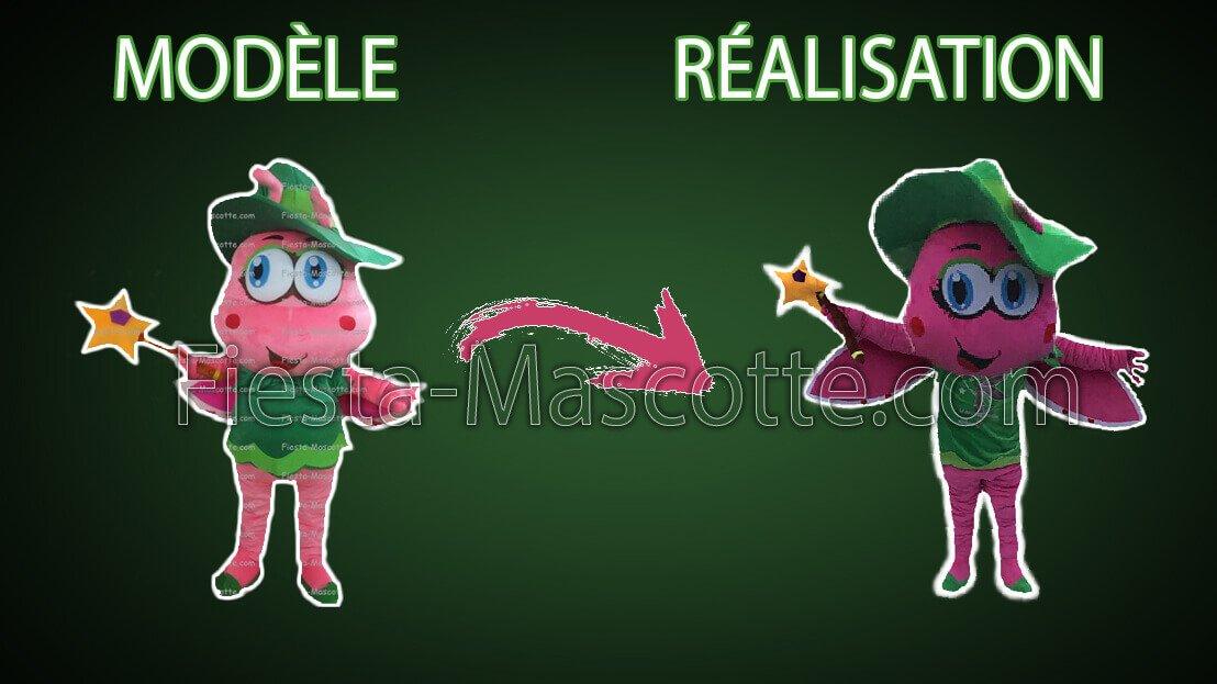 modèle et réalisation de la mascotte féerique